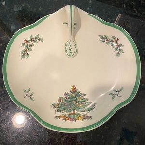 Spode Christmas Tree Candy Dish Serving Piece